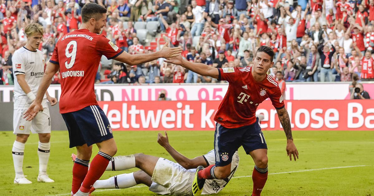 Arjen Robben and James Rodriguez score as Bayern consign Leverkusen to third straight defeat