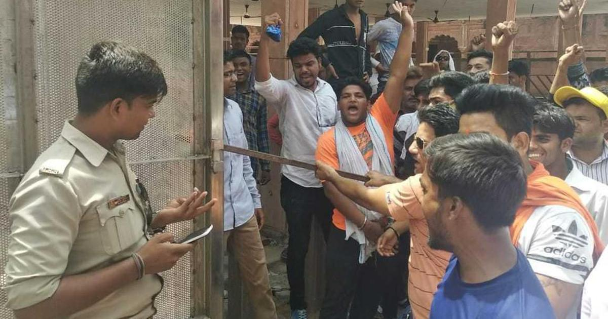 VHP members vandalise gate installed at entrance to Taj Mahal, say it was blocking path to a temple