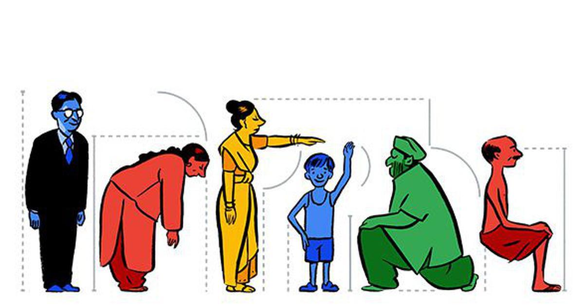 Image result for P. C. Mahalanobis google doodle