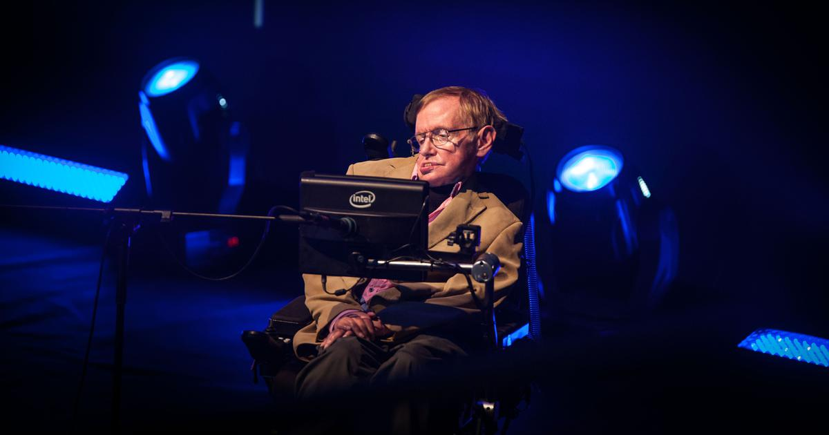 Stephen Hawking's voice beamed towards a black hole after memorial service