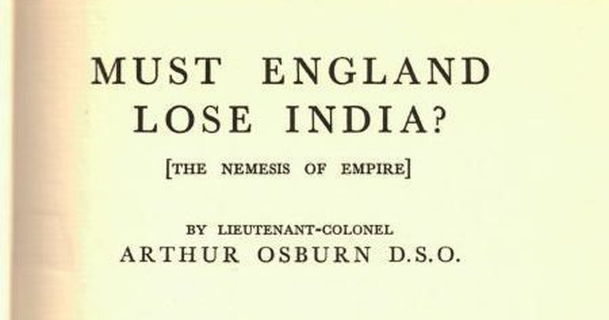 When the British colonial government banned a 1930 book arguing against freedom for India