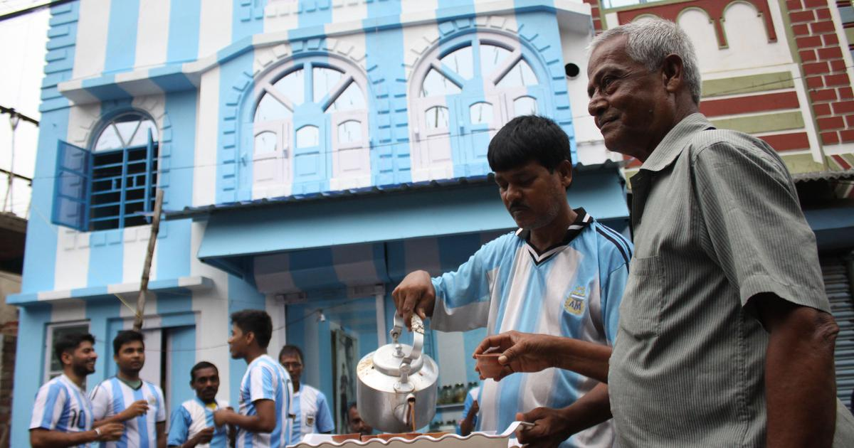 Russia 2018: Die-hard Argentina fan in Kolkata paints his house in La Albiceleste's colours