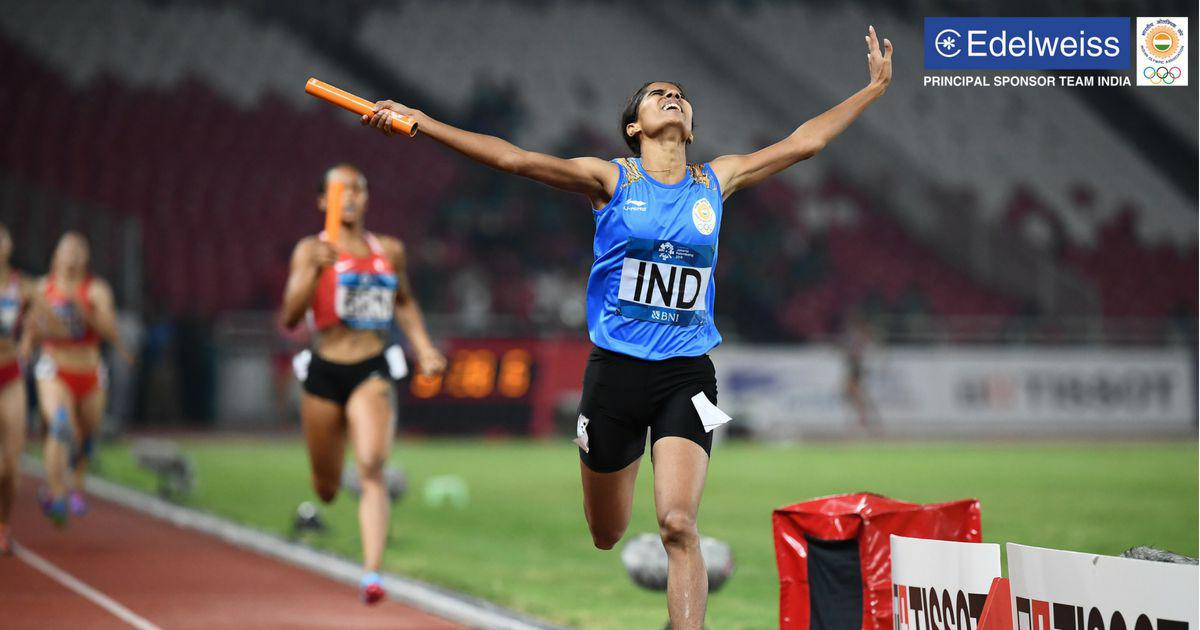 Asian Games: India's 4x400m women's relay team bags fifth straight gold