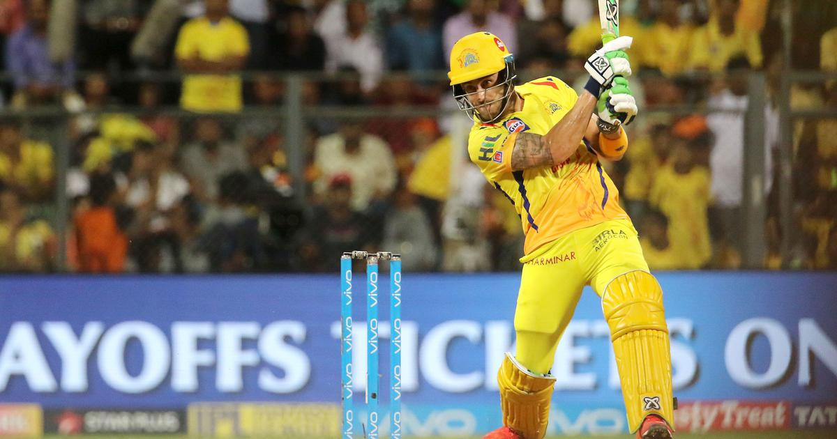Du Plessis' unbeaten 67 anchors Chennai to IPL final