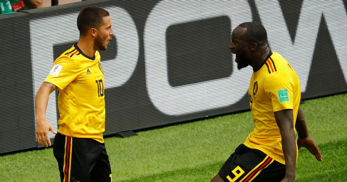 premium selection ced41 14fdb World Cup: Romelu Lukaku, Eden Hazard score two goals each ...