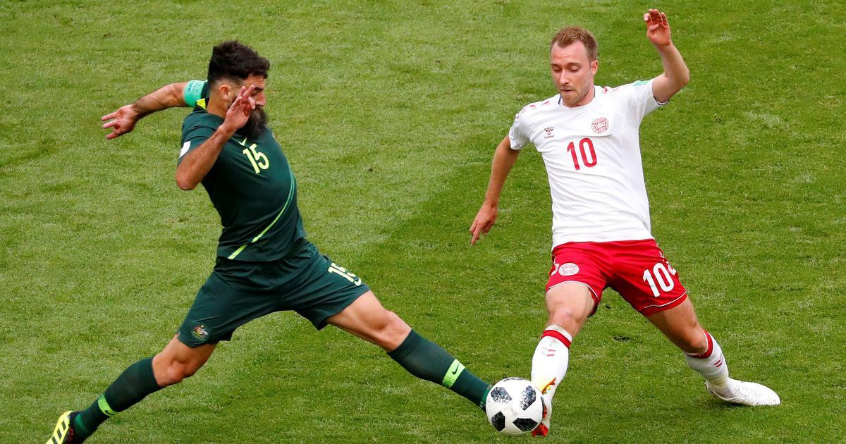 फुटबॉल विश्वकप : आॅस्ट्रेलिया और डेनमार्क के बीच मुकाबला 1-1 से बराबरी पर छूटा