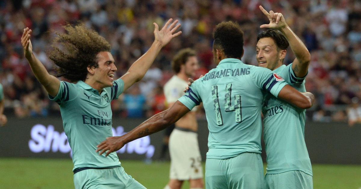 International Champions Cup: Mesut Ozil scores in Arsenal's 5-1 rout of Paris Saint-Germain