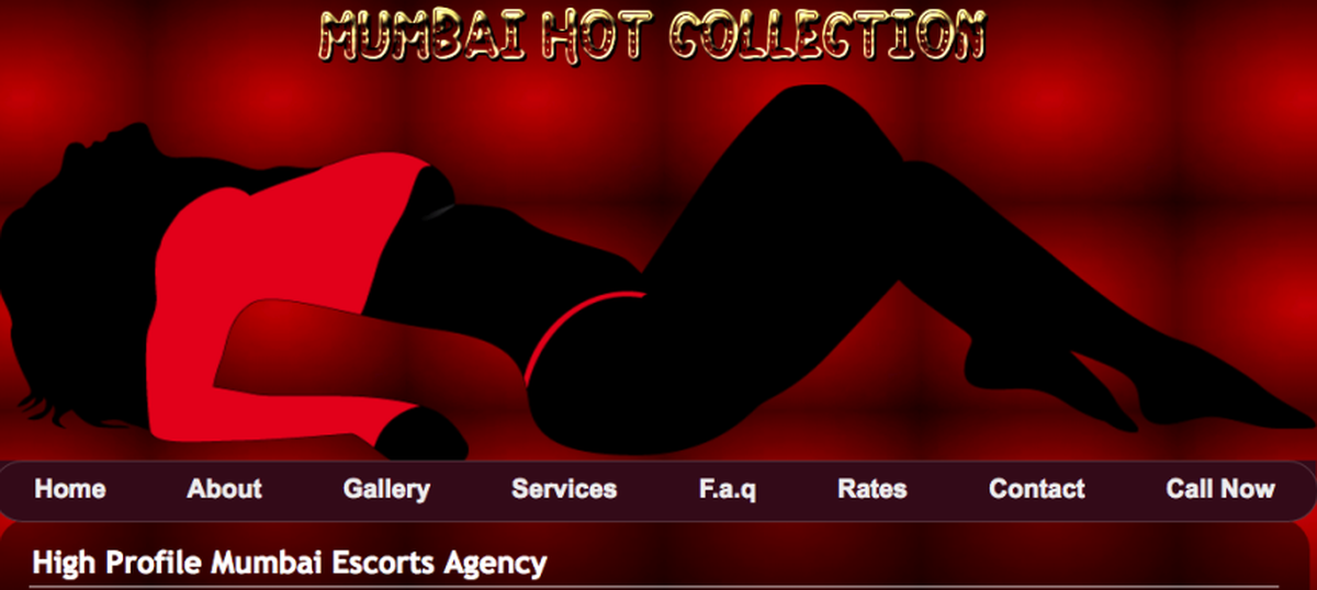 Can websites offering escort services be blocked in India legally?