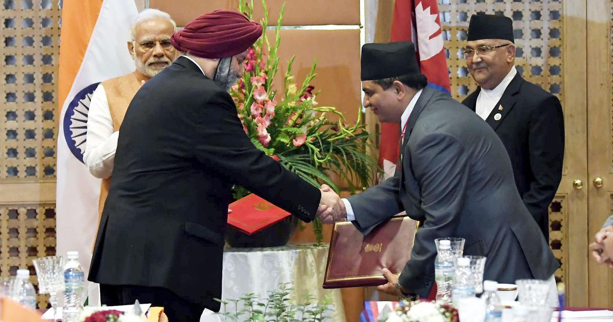 Bimstec Summit India And Nepal Sign Agreement To Build Strategic