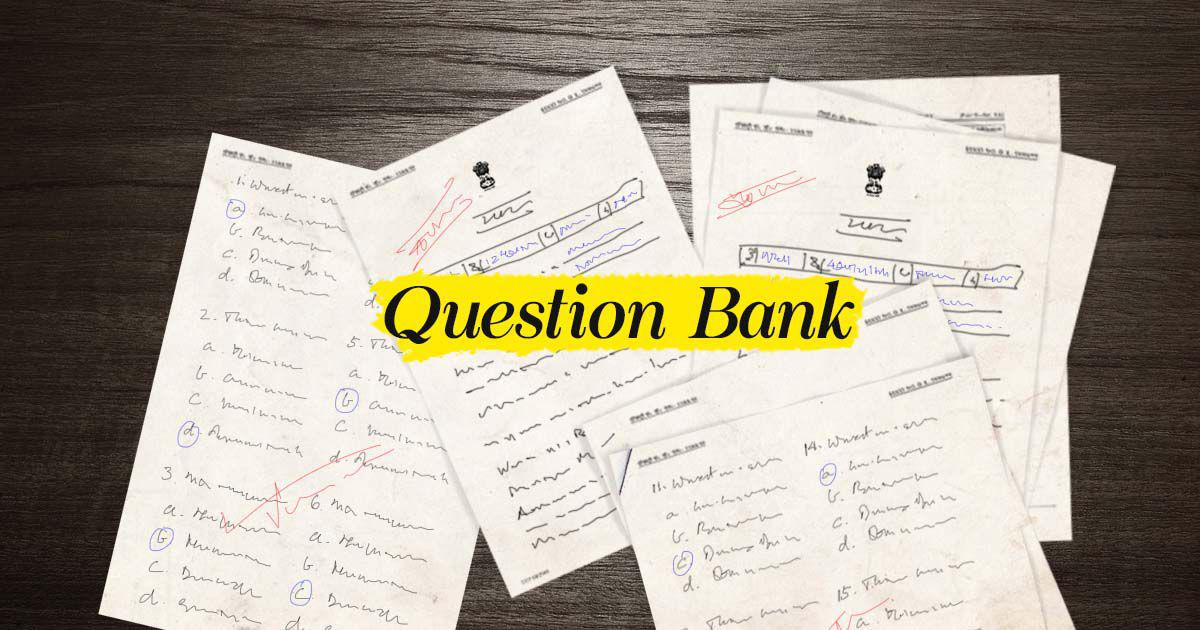 SSC CGL Exam Question Paper Bank: Preparatory questions for SSC CGL exam