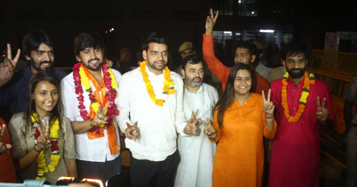 Delhi University Students' Union polls: ABVP wins president, vice president, joint secretary posts