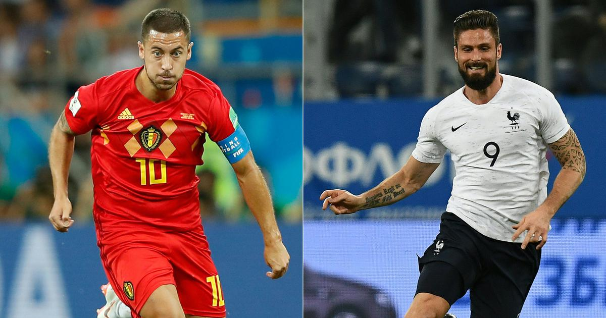 France take on Belgium for a place in the final