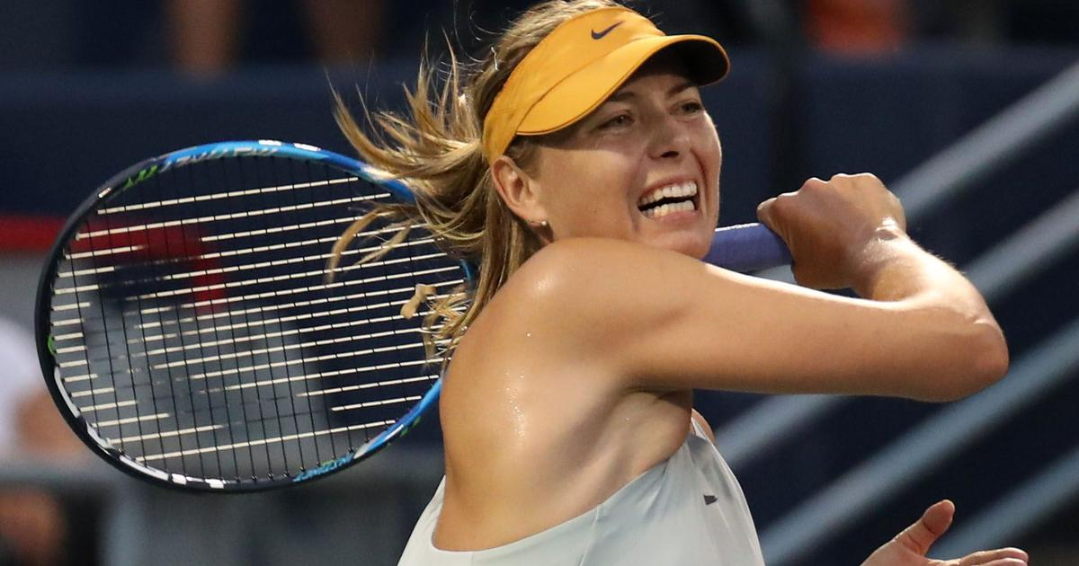 Sharapova pummels Kasatkina, Kerber falls to Cornet in first match since Wimbledon title