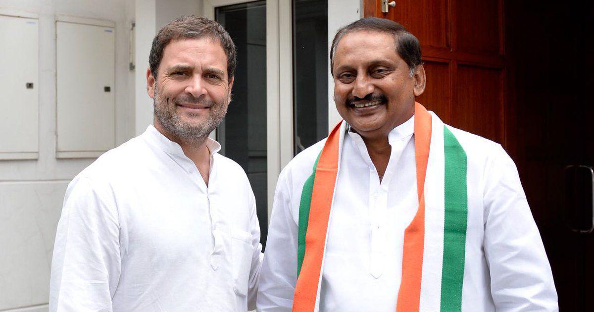 Former Andhra Pradesh CM Kiran Kumar Reddy rejoins Congress