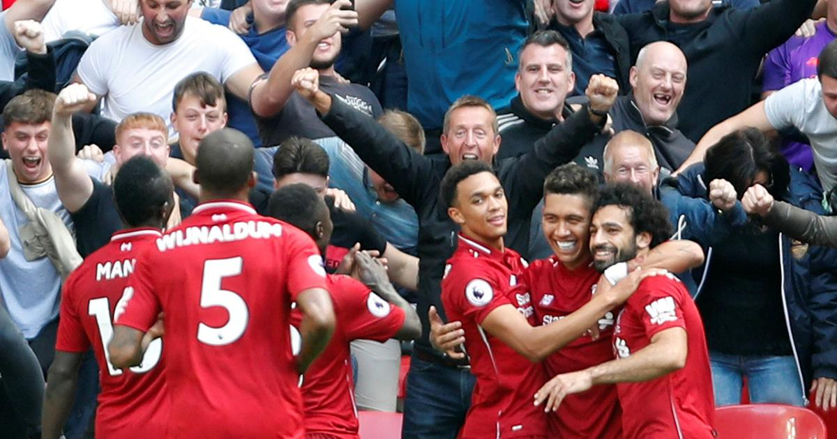 Five wins out of five: Wijnaldum, Firmino's goals help Liverpool beat Tottenham 2-1