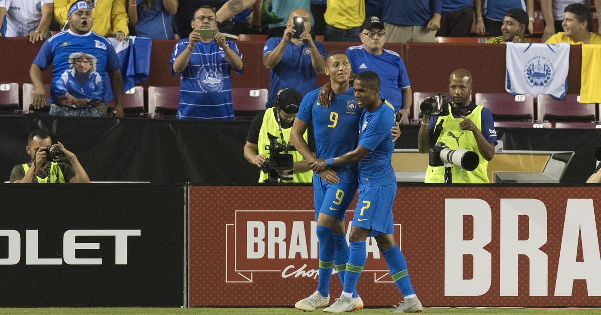 Richarlison scores twice as Brazil beat El Salvador 5-0