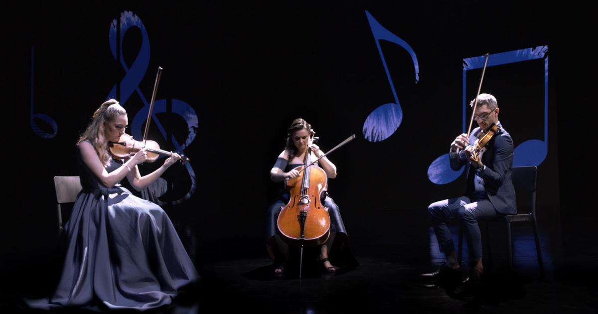 A special shade of blue inspired these musicians to create a musical piece