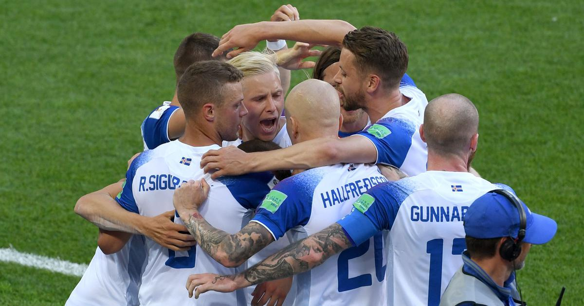 e45713e38 World Cup 2018: Iceland hang on for point on debut as Lionel Messi has  penalty