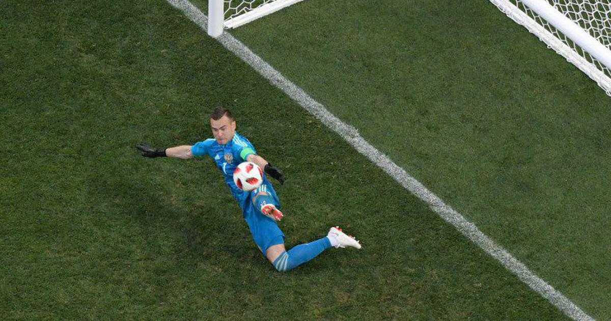 World Cup: Akinfeev stars as Russia defeat Spain on penalties to book quarter-final spot