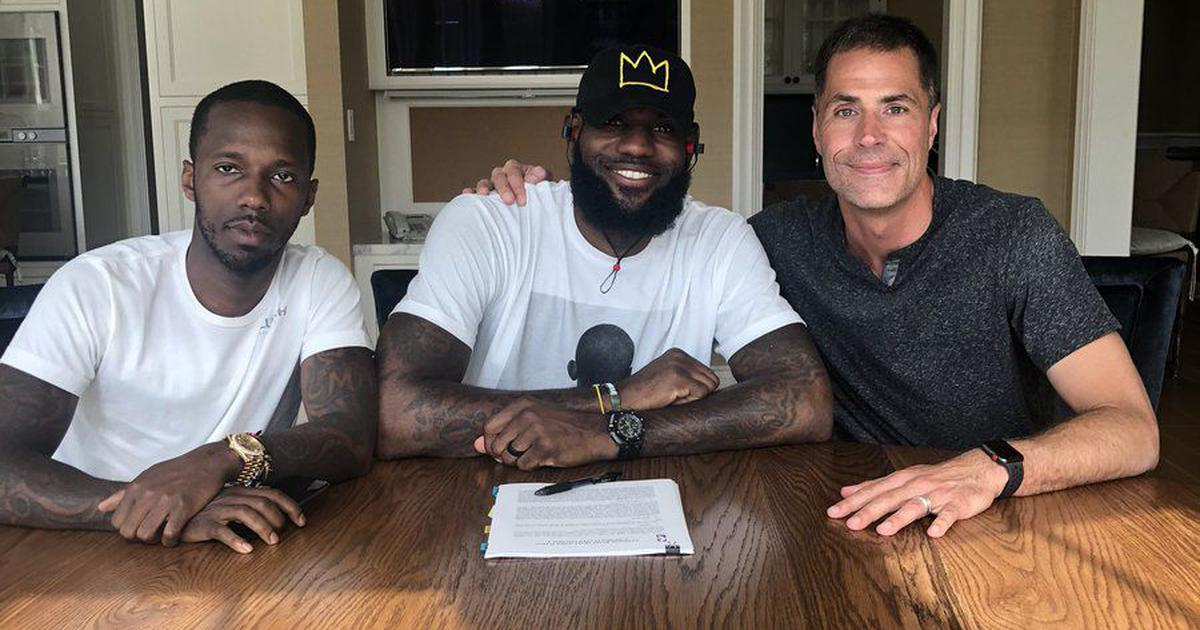 'Today is a great day': LeBron James officially signs $154 million contract with LA Lakers
