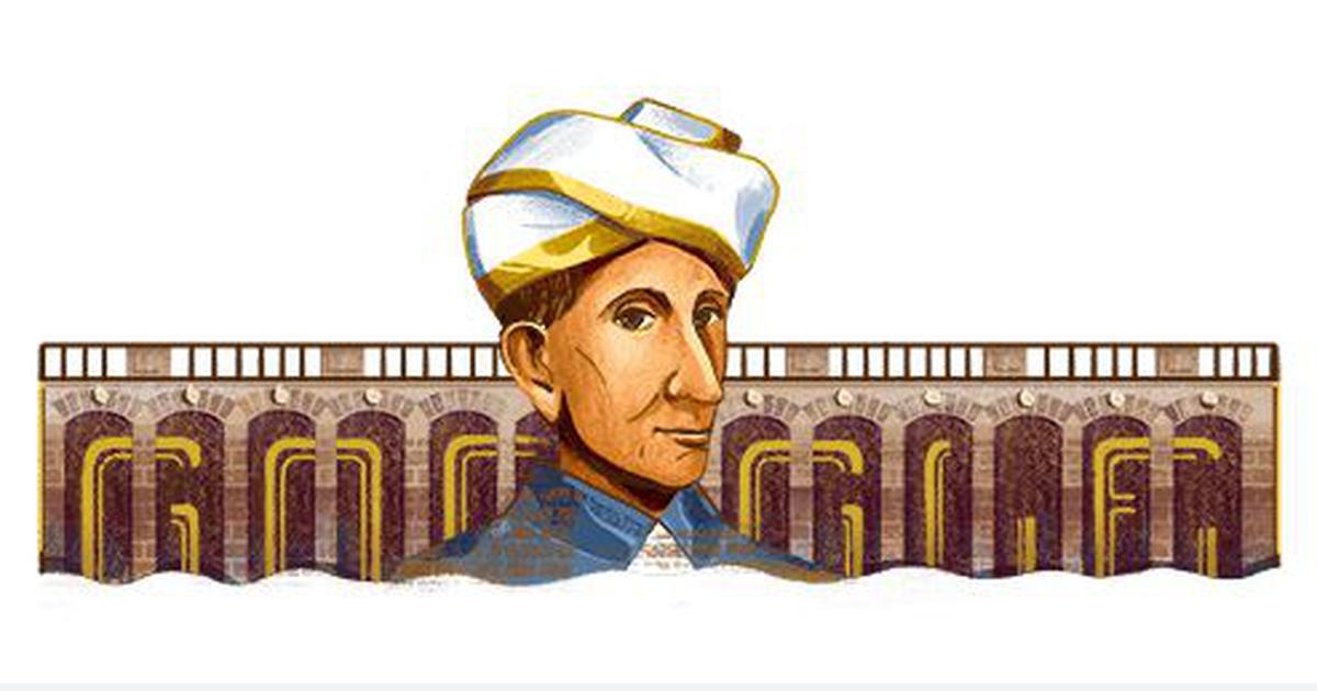 गूगल ने प्रसिद्ध इंजीनियर एम विश्वेश्वरैया को डूडल बना कर याद किया