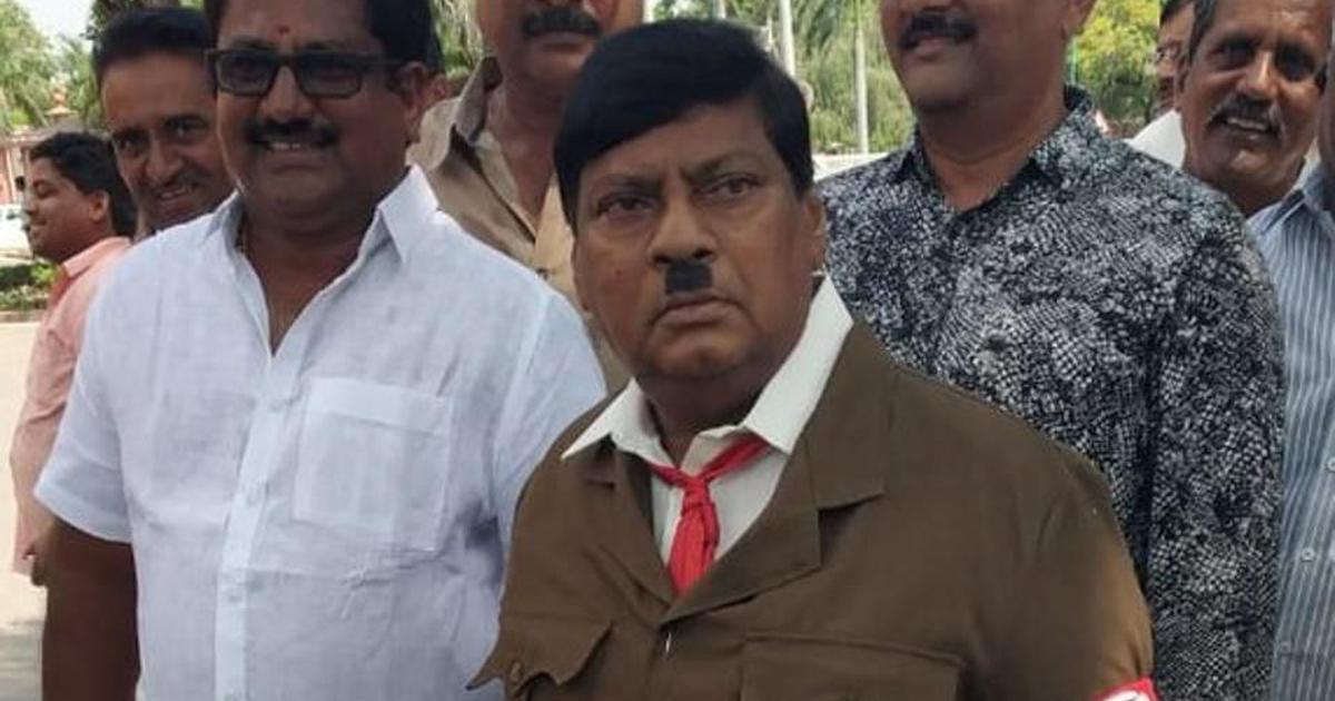 राम, सत्य साईं और नारद मुनि के बाद टीडीपी सांसद एन शिवप्रसाद अब हिटलर बन कर संसद पहुंचे