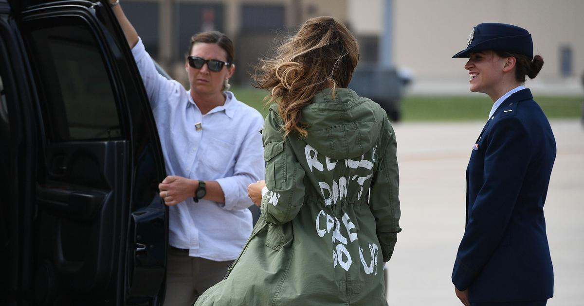 Melania Trump wears jacket saying 'I really don't care, do U?' while visiting migrant children