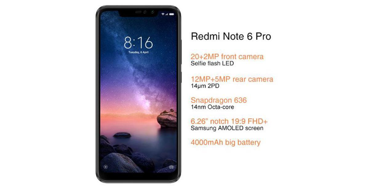 bbc3a4878d7e95 Xiaomi Redmi Note 6 Pro spotted on AliExpress in China; Redmi Note 6 Pro  price