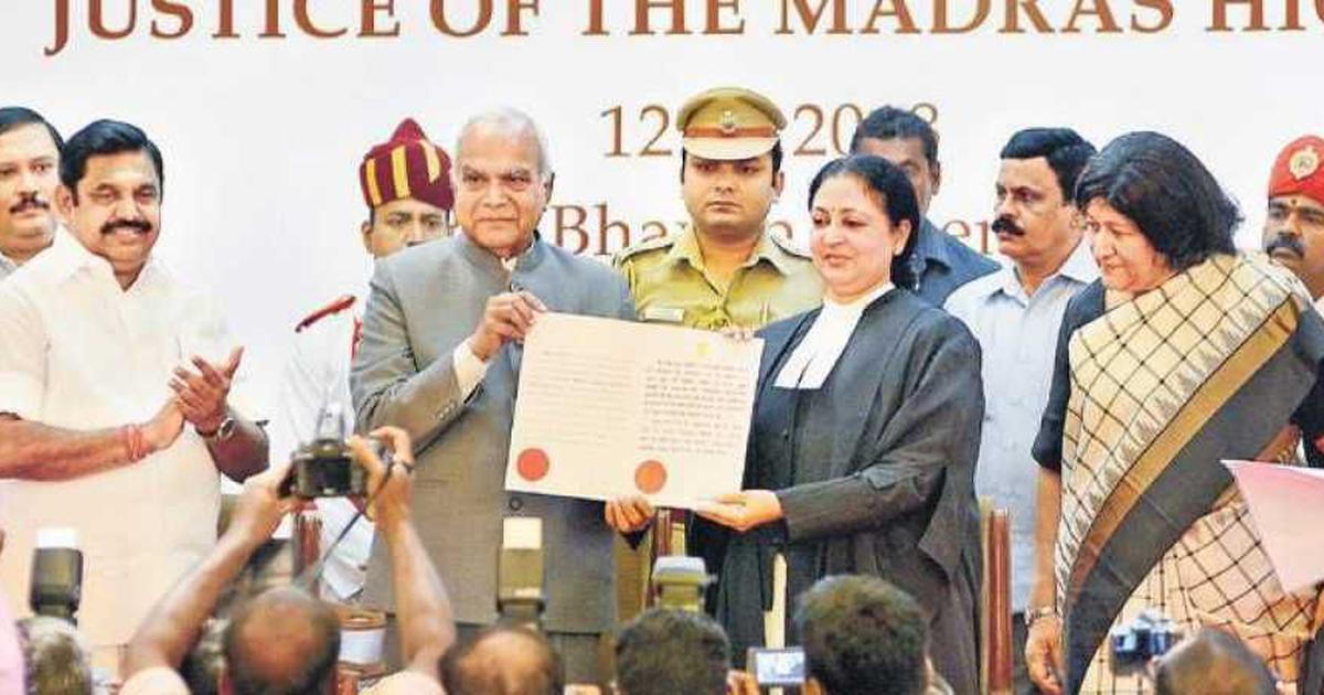 मद्रास हाईकोर्ट की मुख्य न्यायाधीश के शपथ समारोह में जजों को अफसरों से पीछे बिठाया गया