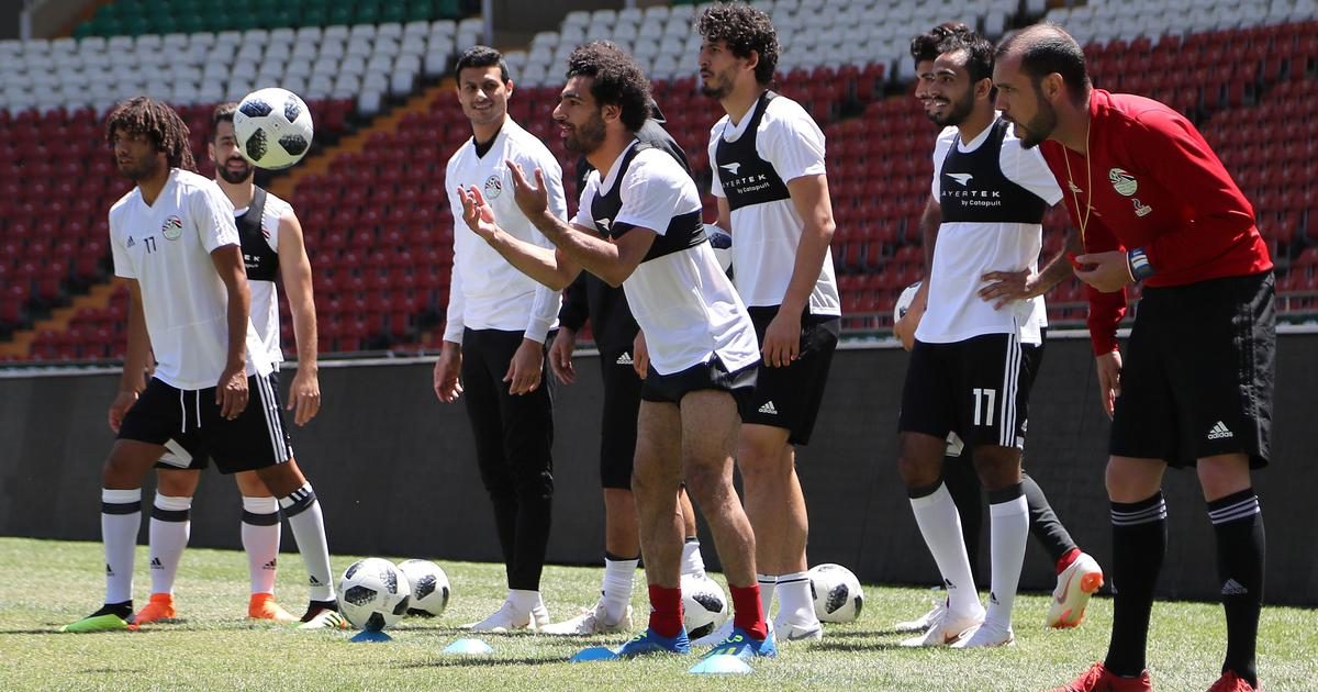 World Cup: Egypt's Mohamed Salah takes part in first training session after shoulder injury