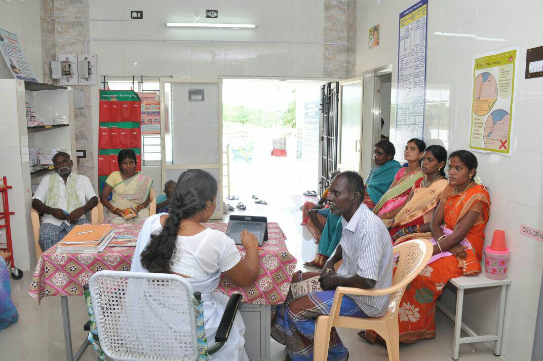 Outpatients at the health sub-centre at Viralimalai block in Pudukottai district in Tamil Nadu. (Photo: Adithyan GS)