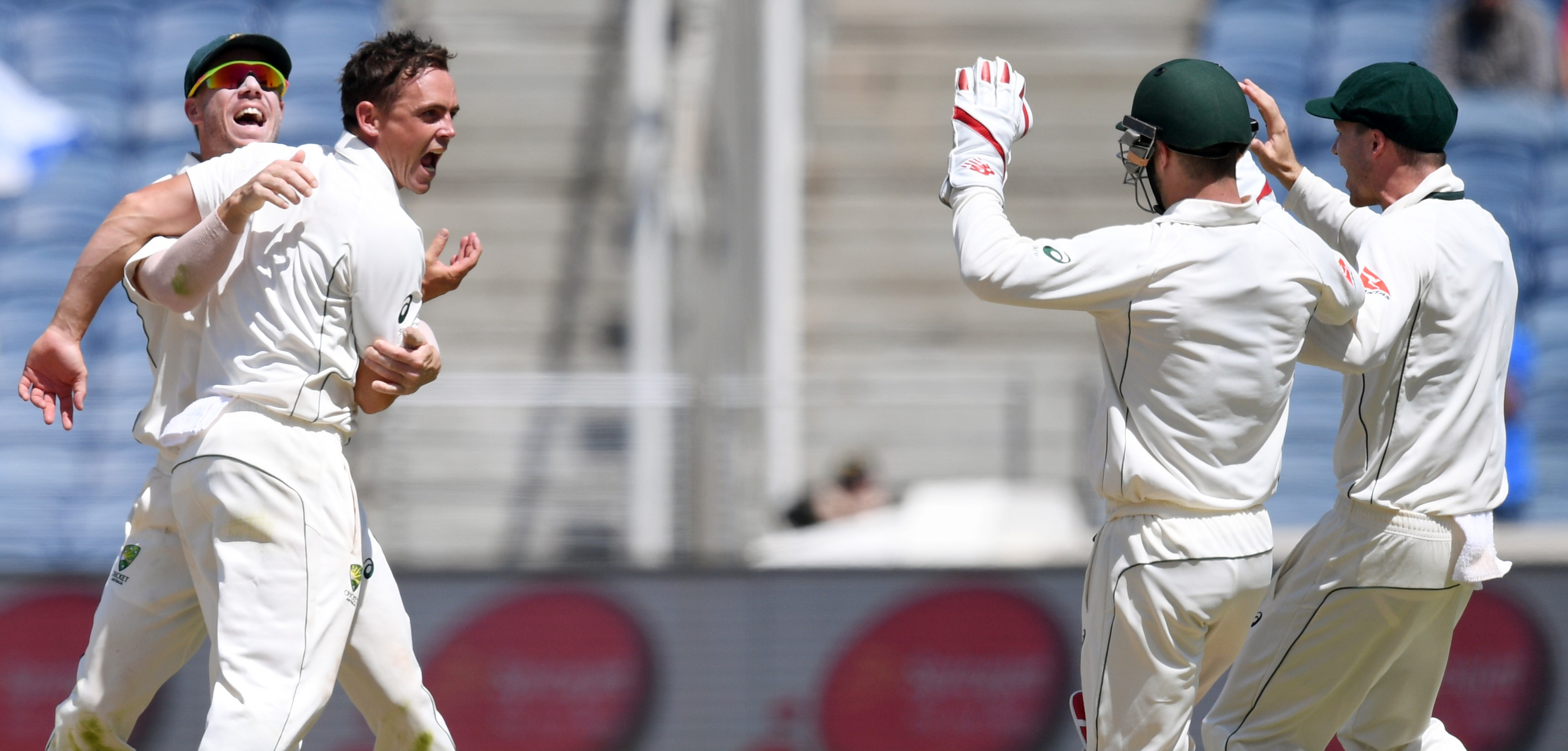 Australia's varied attack and accurate finger spinners bowled India out for 105 in Pune (Indranil Mukherjee/AFP)