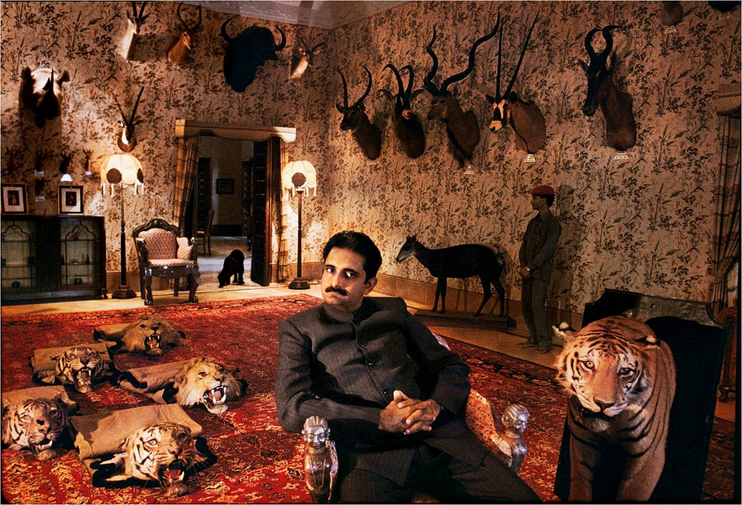Harshvardhan Singh of Dungarpur at home, 1996. (Photograph by Steve McCurry. Courtesy Phaidon/Roli Books)