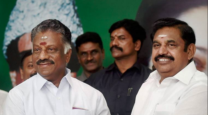 Tamil Nadu Chief Minister E Palaniswami and Deputy Chief Minister O Pannerselvam. The ruling AIADMK is in talks with the BJP. (Photo credit: PTI).