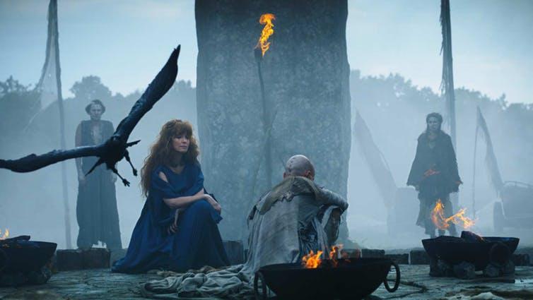 A druidic ceremony performed in Britannia. Courtesy Sky Vision.