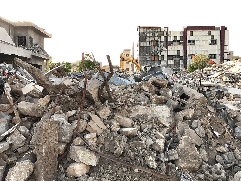 The house of Dr Mohammad Tayeb Al-Layla was reduced to rubble in the strike on January 10.