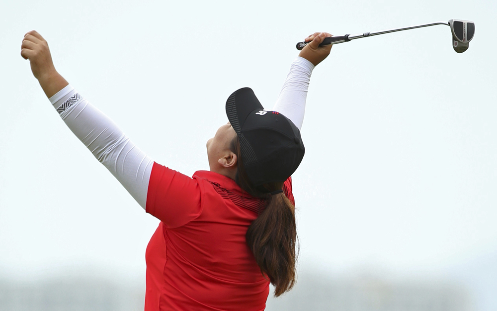 South Korea's Inbee Park won gold in the women's individual golf event. Image credit: Kevin Lamarque / Reuters