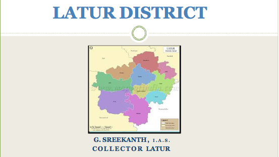 Screenshot of the District Collector's profile for Latur district in Maharashtra. Modi spoke in the district on April 9.