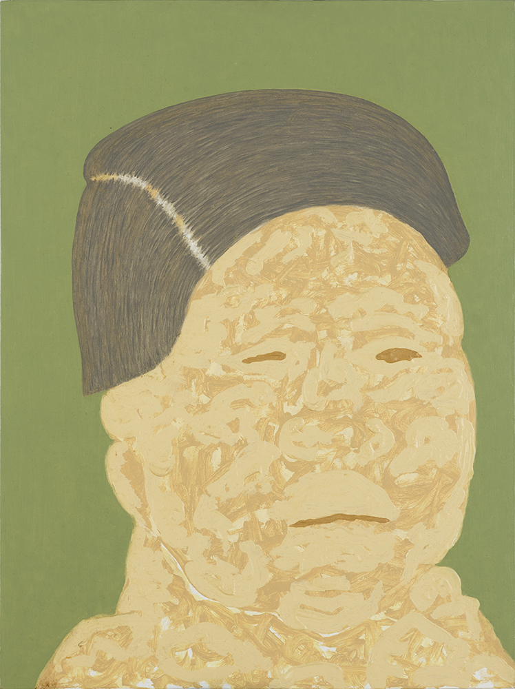 GIEVE PATEL, Meditations on Old Age (4), oil on board, 24 x 18 in