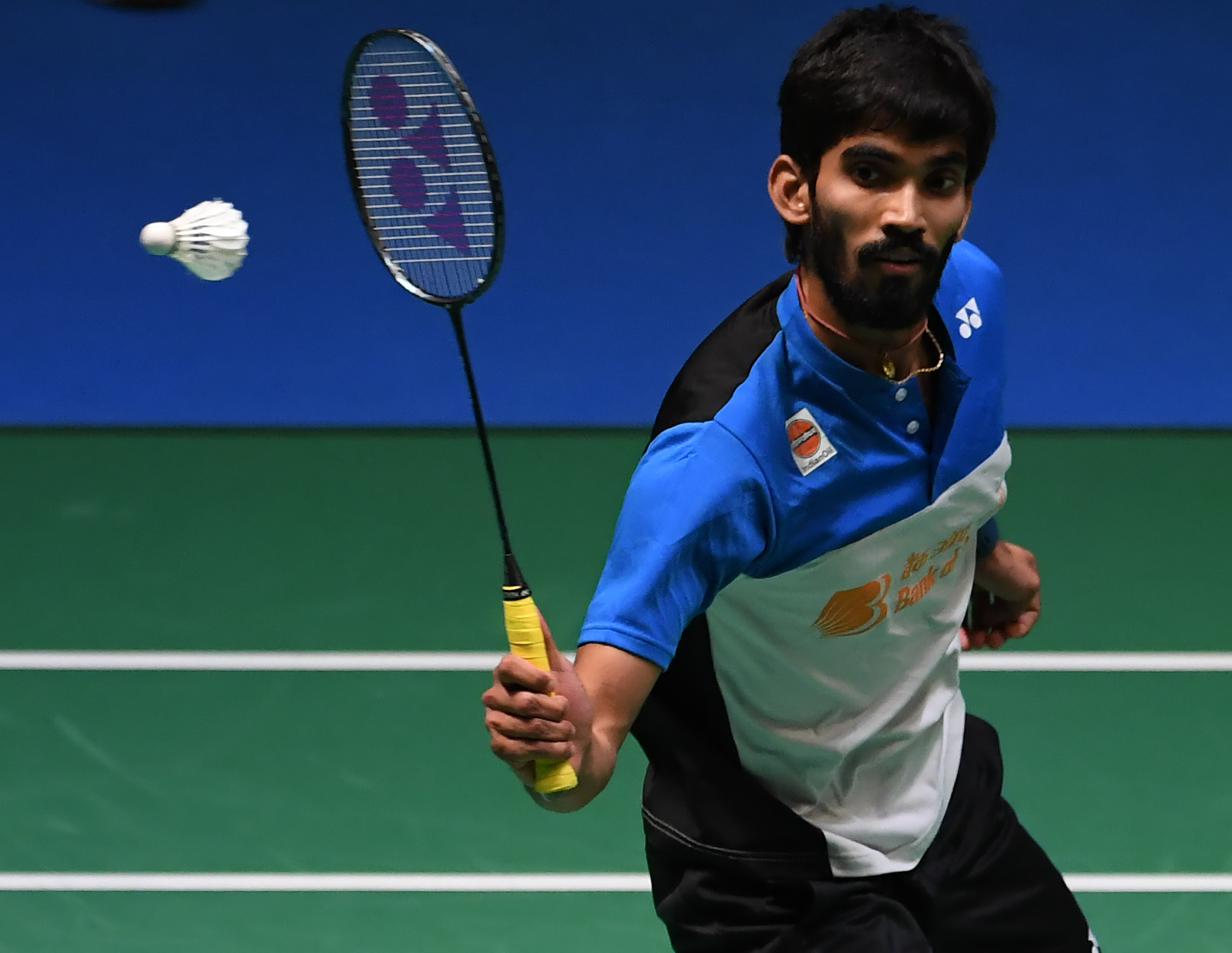 K Srikanth takes on Brice Leverdez in the first round (Image: AFP)