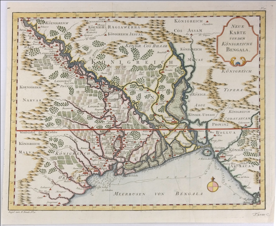 A Jacques Bellin map of the Myanmar region, featuring the Bay of Bengal, 1767. Image courtesy: Anubhav Nath