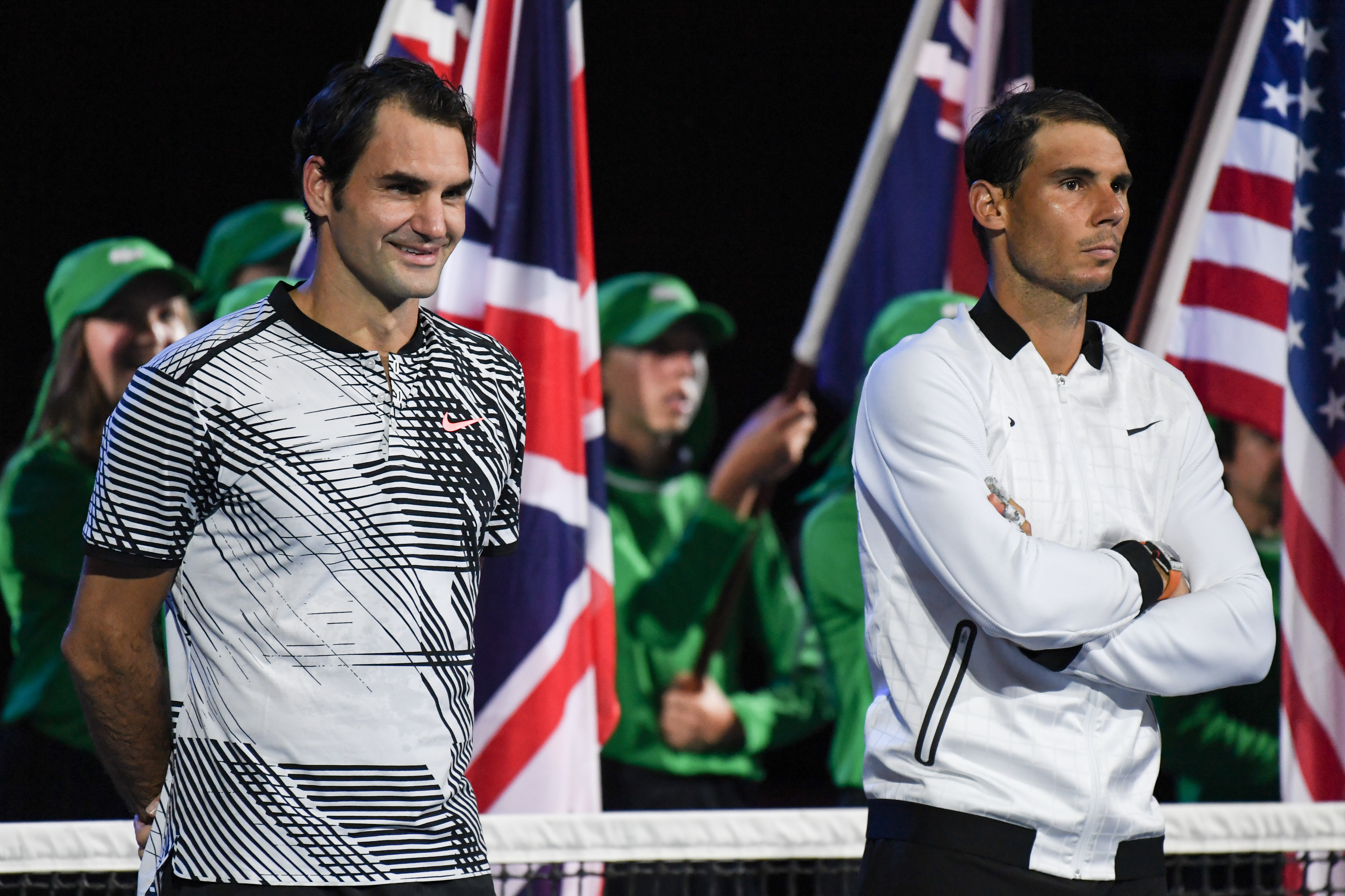 Roger Federer overcame Rafael Nadal 6-4, 3-6, 6-1, 3-6, 6-3 in a roller-coaster of a final in last year's Australian Open.