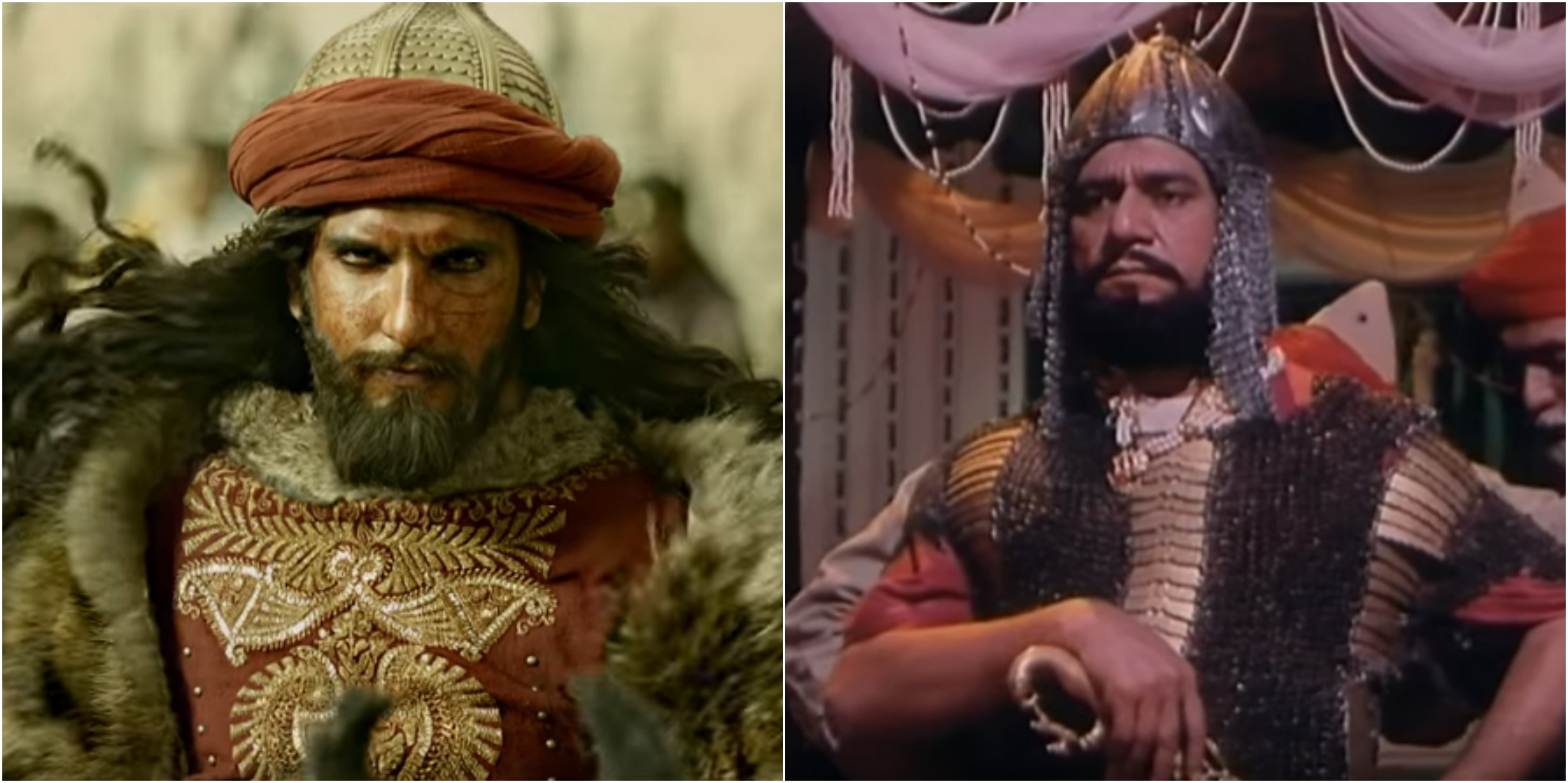 Ranveer Singh in Padmavati and Om Puri in Bharat Ek Khoj.