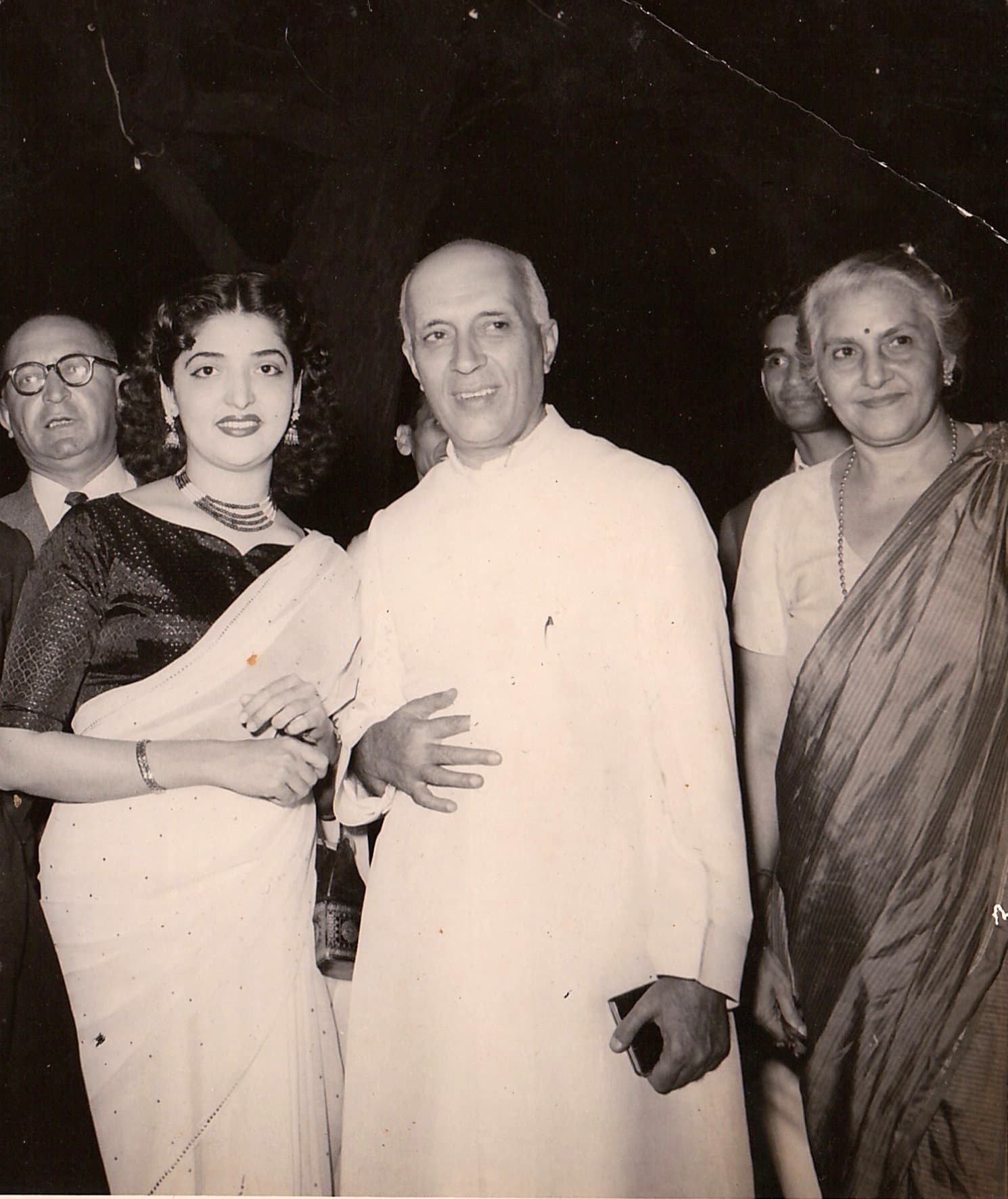 With Prime Minister Jawaharlal Nehru.