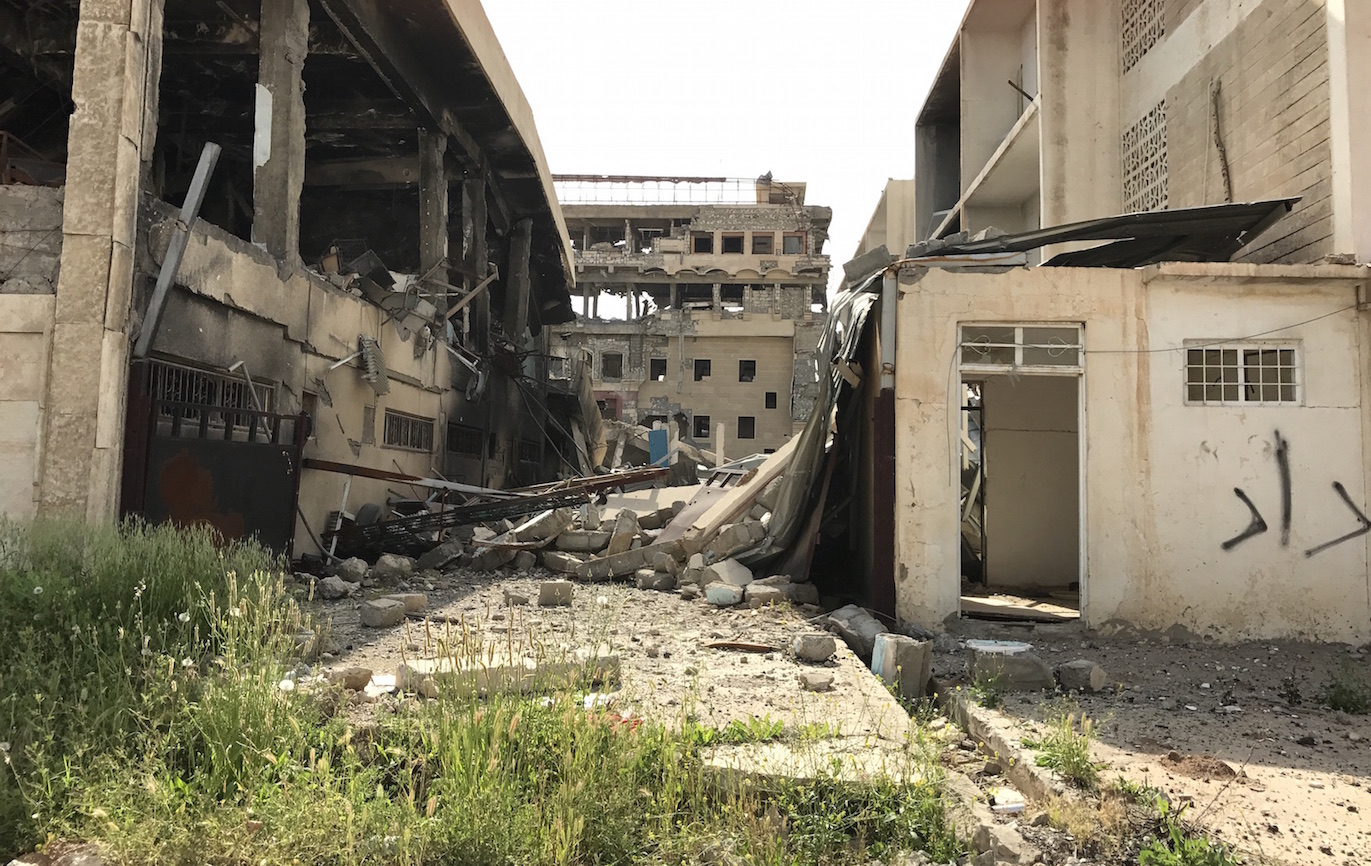 Mosul University saw pitched battles as ISIS fighters took position here.