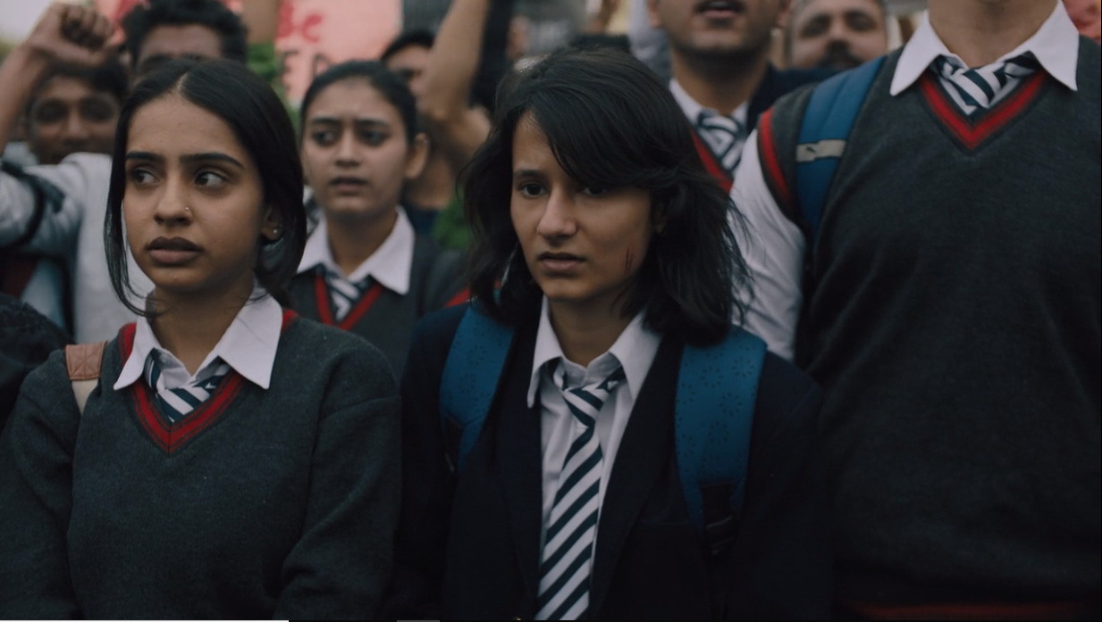 Yashaswini Dayama (right) in Delhi Crime. Courtesy Netflix.