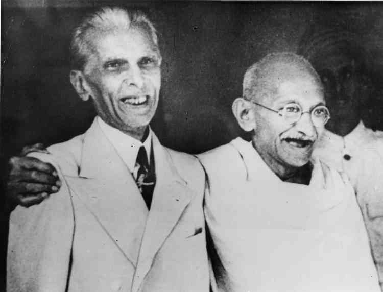 Mumahhad Ali Jinnah and Mahatma Gandhi in 1944. Courtesy British Library.
