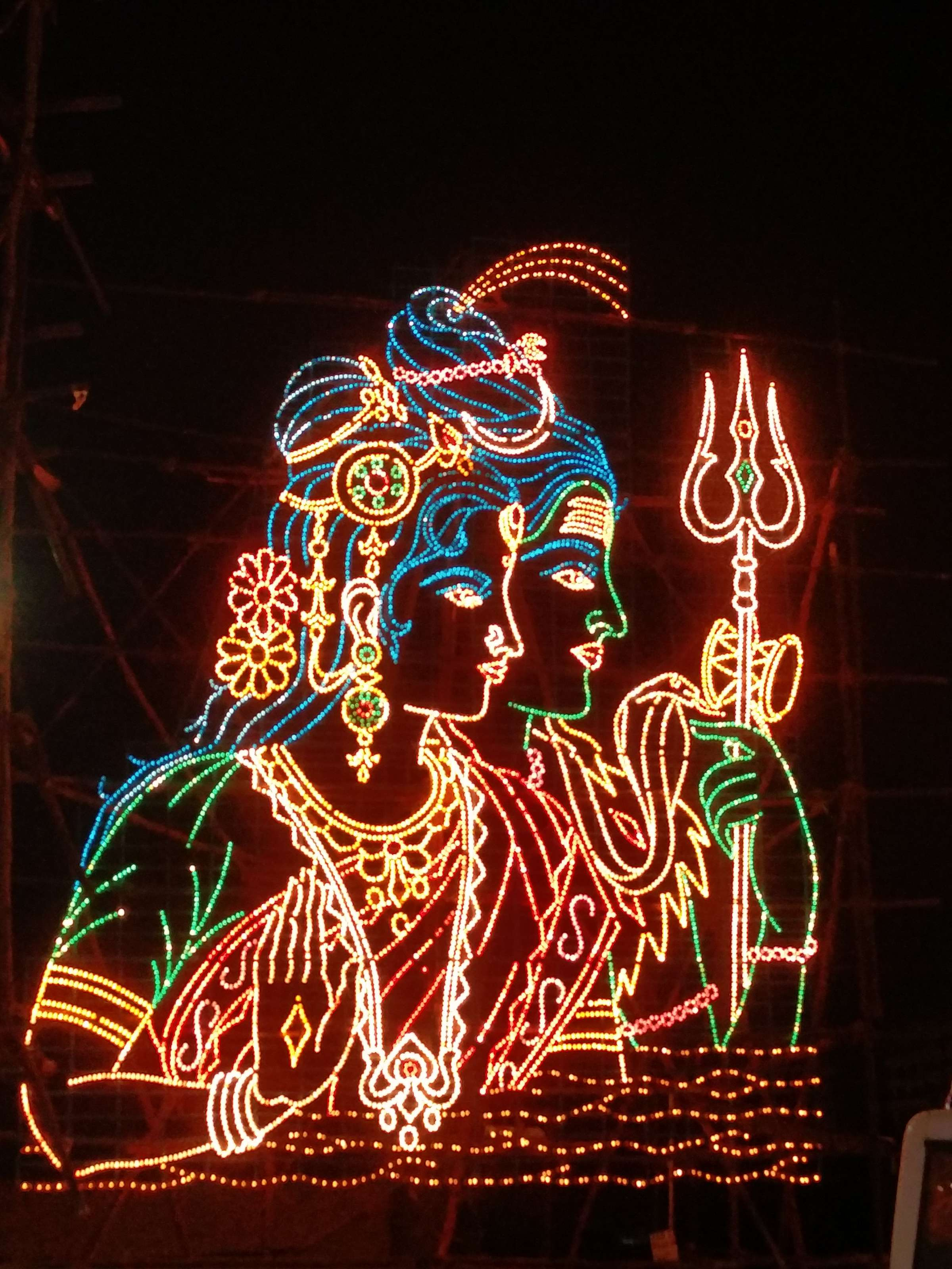 A depiction of Shiva and his wife Parvati.