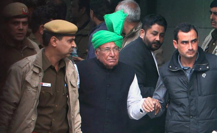 Both Om Prakash Chautala and Ajay Chautala are serving 10-year jail sentences after their conviction in 2013 in a teachers recruitment scam. (Credit: PTI)