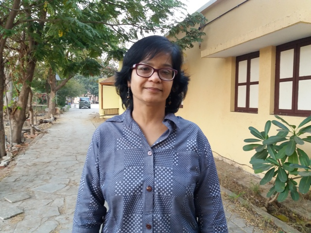 Manjula Pradeep, the outgoing executive director of Navsarjan. (Photo credit: Aarefa Johari).